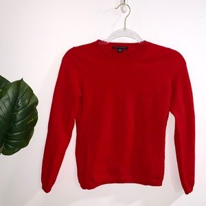 Banana Republic Red Crewneck Sweater Small